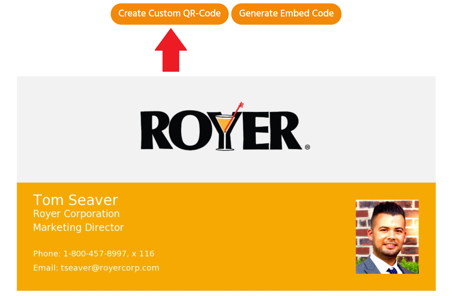 Digital Business Cards QR Code